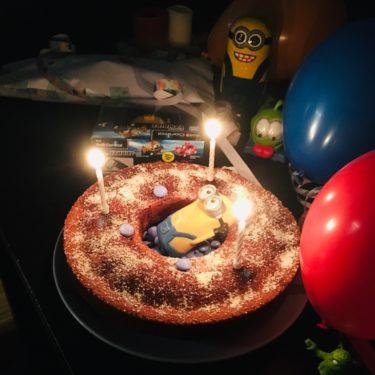 Geburtstagstorte dritter Geburtstag