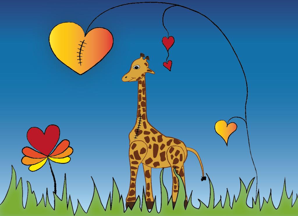 Kinderbuch für Herzkinder Giraffe Gilda