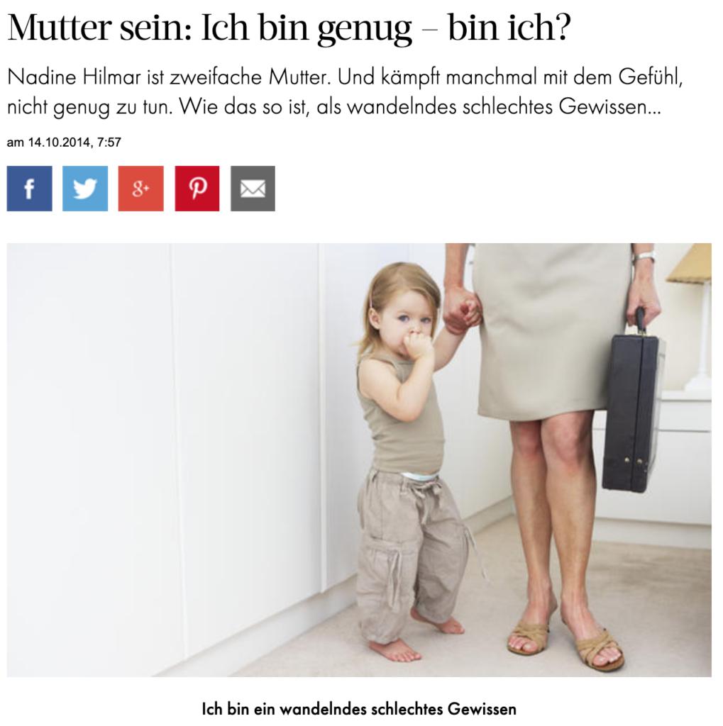 """Woman Artikel """"Ich bin genug - bin ich?"""""""